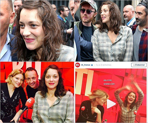 _ 15/09 : Gaspard , Marion et Léa le matin de l'avant première de Juste la fin du monde. _