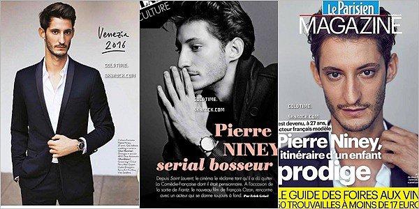 _ Septembre : Gaspard à l'honneur dans plusieurs magazines, ci dessous pour VOGUE france. On découvre deux superbes photos en noir et blanc dans ce numéros d'octobre. On  adore !