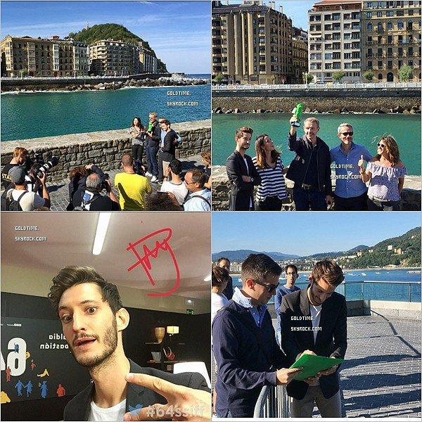 _ 24/09 : Pierre au Festival de San Sebastian pour le film L'Odysée (photocall) . C'est un TOP pour Pierre Niney et l'équipe du film. Le cadre est juste magnifique !