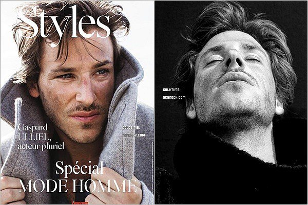 """_ Septembre :Gaspard Uliiel est à l'honneur du magazine """"L'Express Style"""" de septembre . Personnellement, j'aime beaucoup ce nouveaux photoshoot, surtout les photos en noir et blanc. Vos avis ?"""