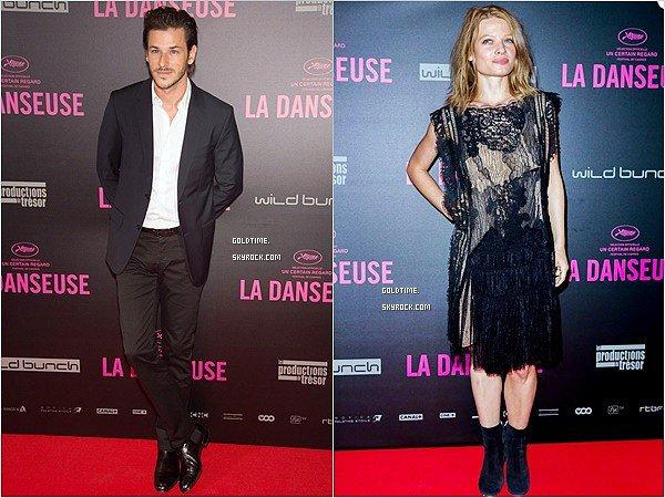 """_ 19/09 : L'équipe du film """" La Danseuse"""" à la première parisienne, avec Mélanie et Gaspard. Le film sortira en salle le 28 septembre . C'est un TOP pour Gaspard & Mélanie ! Vos avis ?"""