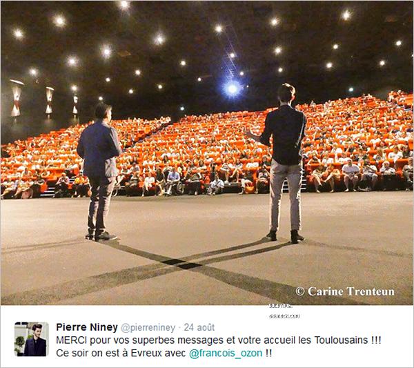 """_ 24/08 : Pierre Niney continue la promotion de son nouveau film """"Frantz"""", cette fois ci à Evreux. Bonne nouvelle ! En effet, le film fais partie de la séléction du festival de Venise fin août / début septembre."""
