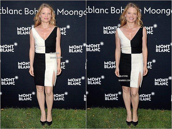 _ 9/07/15: Mélanie Thierry était invité à un cocktail & un diner pour Montblanc à Paris. C'est un TOP pour notre jolie Mélanie, très chic en noir & blanc ! Vos avis ?