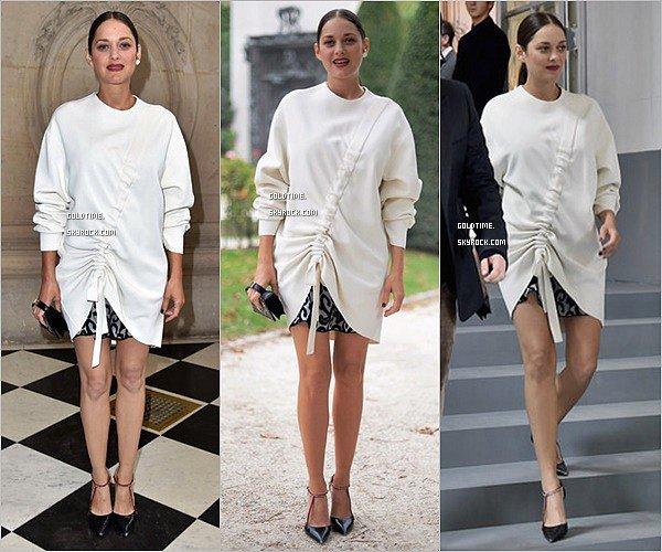 _ 30/09 : Marion Cotillard assistait au défilé Dior primtemps été 2017 au musée Rodin à Paris . C'est un TOP pour Marion, très élégante toute en blanc. Vos avis ?.