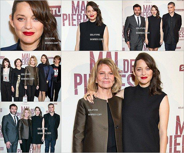 """_ 10/10: Marion présentait """"Mal de pierres"""" en avant première à Paris. Le film sortira le 19 octobtre 2016. Je trouve Marion juste sublime ! Vos avis ?"""