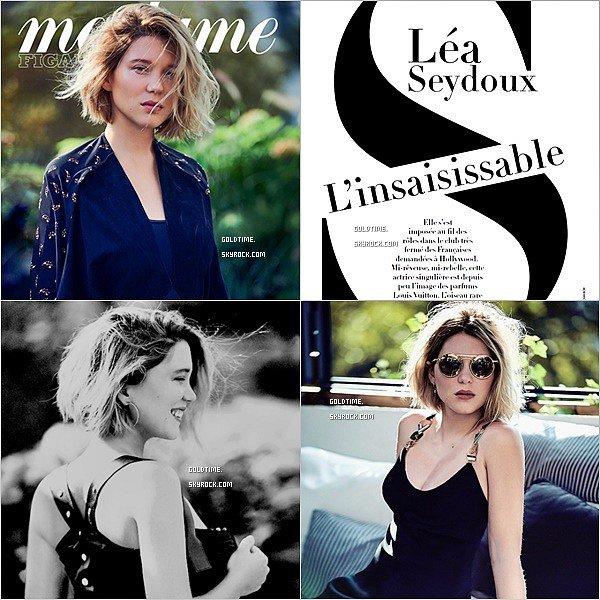 _ Novembre : Léa Seydoux à l'honneur du magazine Madame Figaro de ce mois ci.  Un très jolie photoshoot pour notre belle Léa ! Pour rappel, le mois dernier, c'était Marion qui était à l'honneur ici.