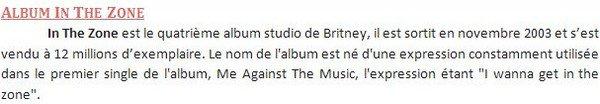 """♦SondageA quelques jours de la sortie du nouvelle album de Britney """"Femme Fatale"""" j'ai décidé de faire un sondage sur quelques anciens albums de Britney. Le sondage sera fini le 29 mars. Parmis les albums qui feront partie du sondage il y aura : In The Zone; Blackout et Circus. Le 29 mars article spéciale sur Femme Fatale vous attends."""