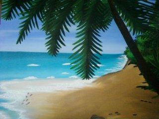 La plage et les cocotiers