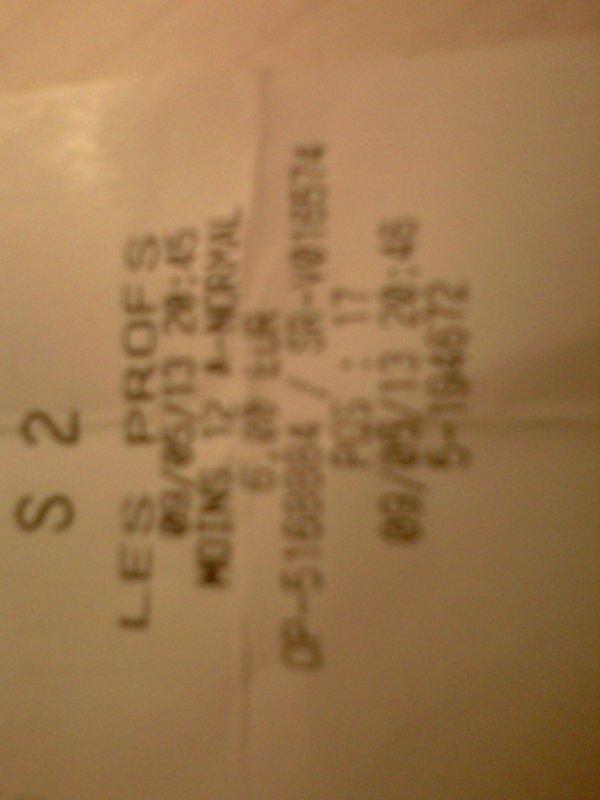 voici le ticket de cinema du soir