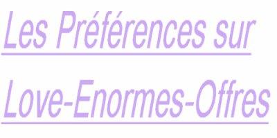 Les préférences.