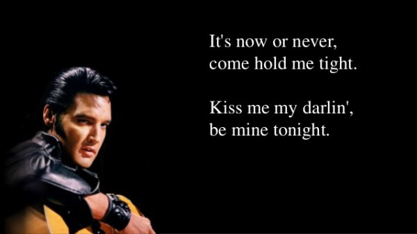 Elvis - It's Now Or Never (O Sole Mio)  BISOUS ANITA  CADEAU  TBONIFACE   ELVIS CHANTE POUR TOI   BISOUS TONY