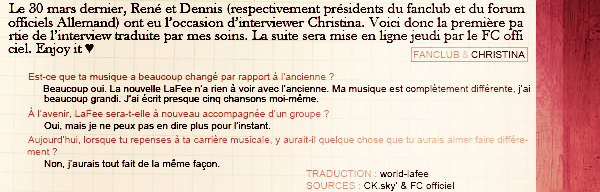 « Interview du 30 Mars 2011 - PART I » art. 21