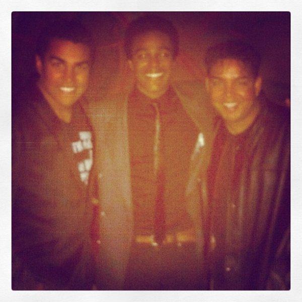 Taj et Tj avec leur cousin Austin