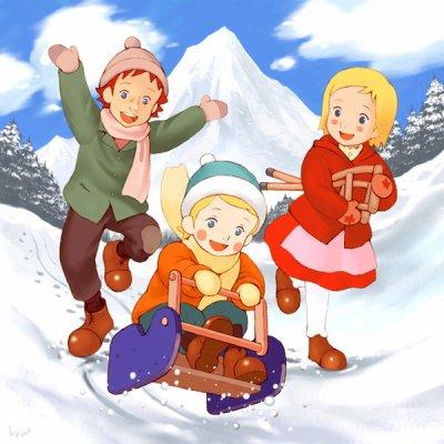Dans les alpes avec Annette