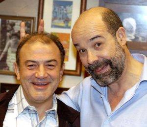 Jésus Bonilla alias Santiago et Antonio Resines alias diego dans la série