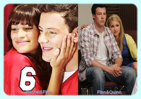 Alors Rachel&Finn ou Finn&Quinn (Glee)