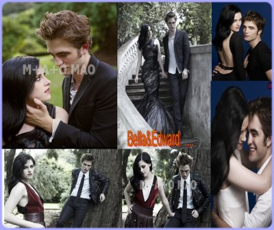 montage de Robert Pattinson&Kristen Stewart ( la saga twilight ♥)