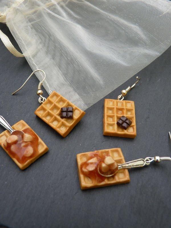 Gaufres caramel/pomme et chocolat