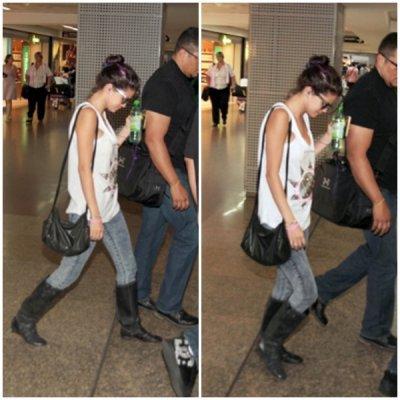 Selena à été vue à l'aéroport de sao polo le 6 février.
