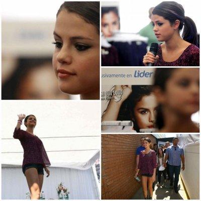 """Selena lançait ca ligne de vétement """"Dream out Loud"""" au Chili."""