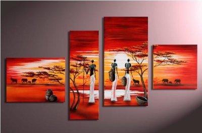Tableau style africain blog de peinture62300 for Peinture chambre style africain