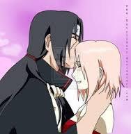 Sakura and itachi kawaiii