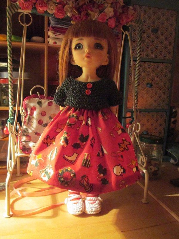 une robe toute simple pour Noël