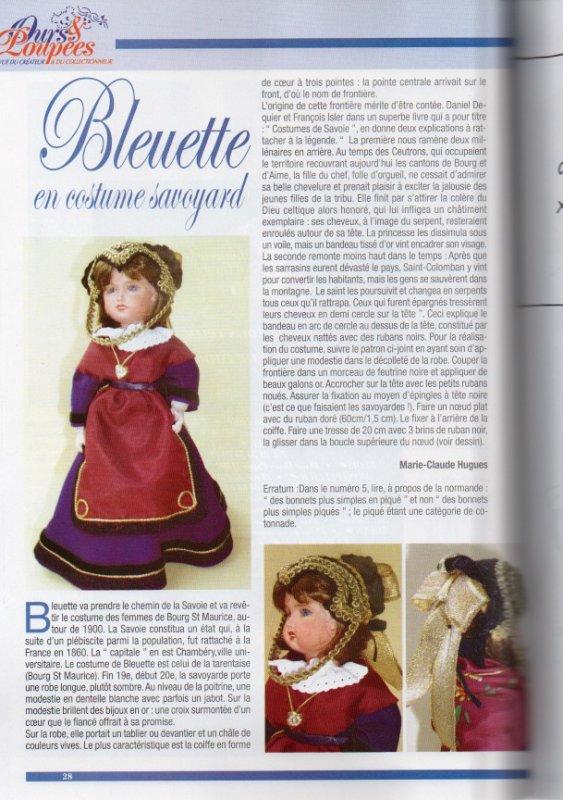 Bleuette en Savoyarde