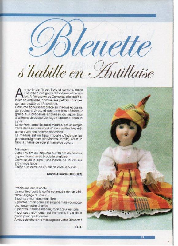 Bleuette en Antillaise