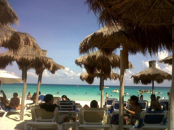 club de plage de l hôtel a Playa del Carmen =)