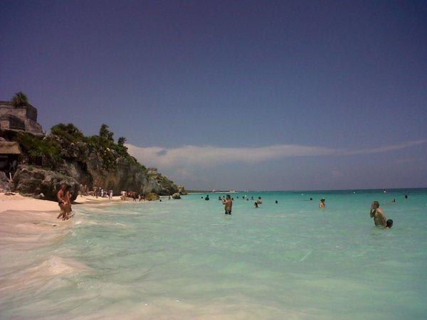 la plus belle plage que j ai jamais vue... tulum