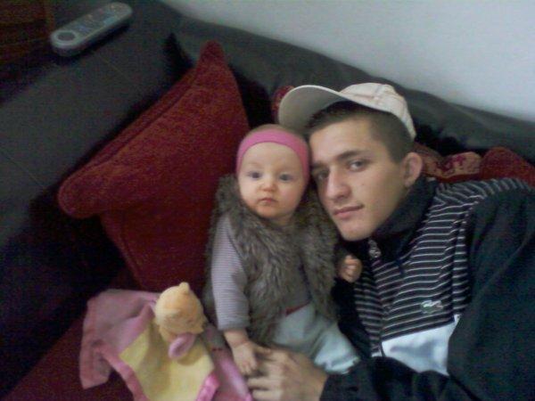 keylia ma petite fille trop mignonne et mon fils nicolas ......