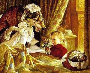Conte de Grimm -Le Petit Chaperon rouge.