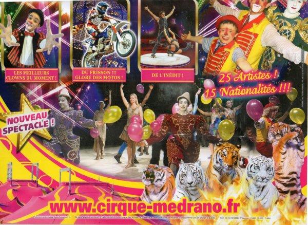 cirque MEDRANO  ( programme )