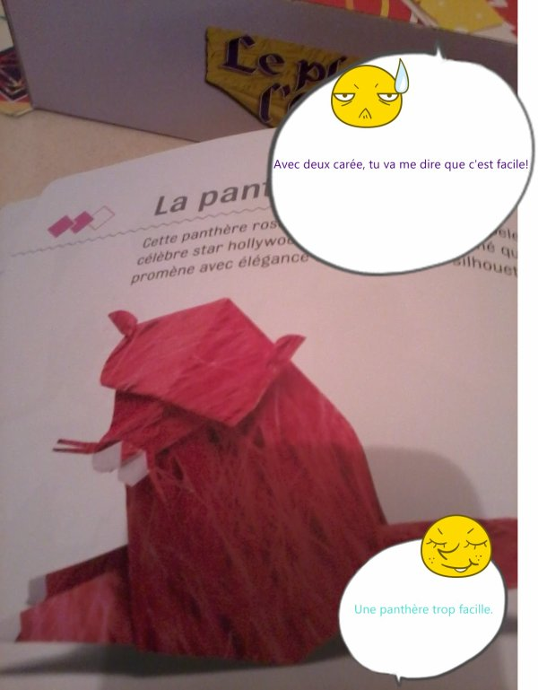 L'origami et Ashley,sa fait deux.