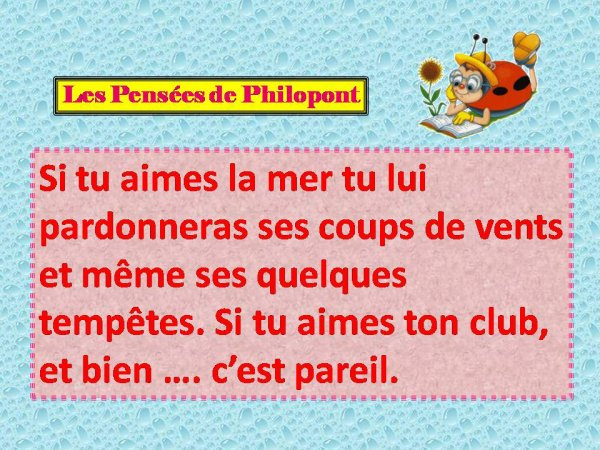Philopont a un message