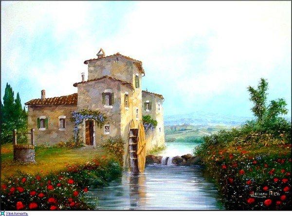 maisons et moulins