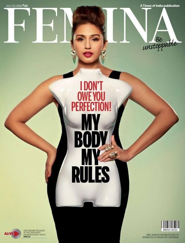 #Article 13 : Huma Qureshi pour FEMINA cover Juillet 2014