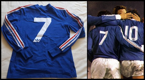 Maillot France 1975 1978