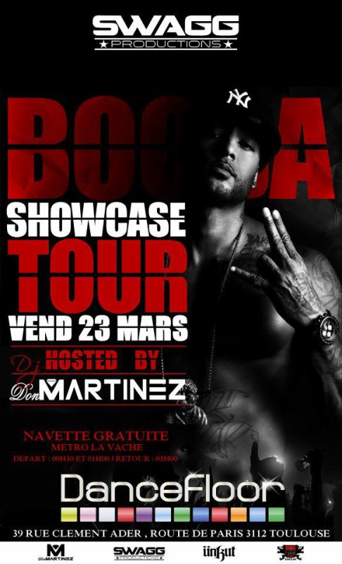 Booba en showcase au Dancefloor (Toulouse)