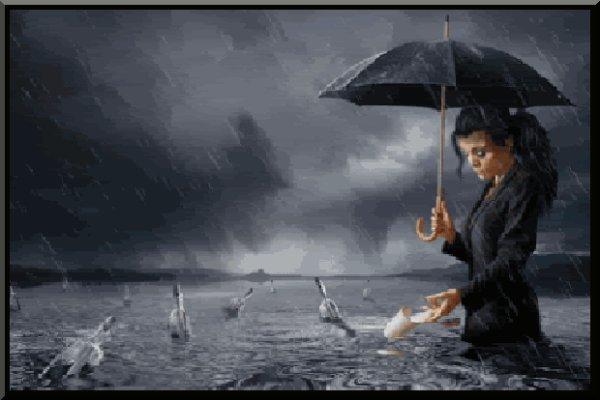 larmes et pluie