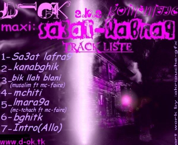 Track Liste...::: Sa3at-Lafra9:::...
