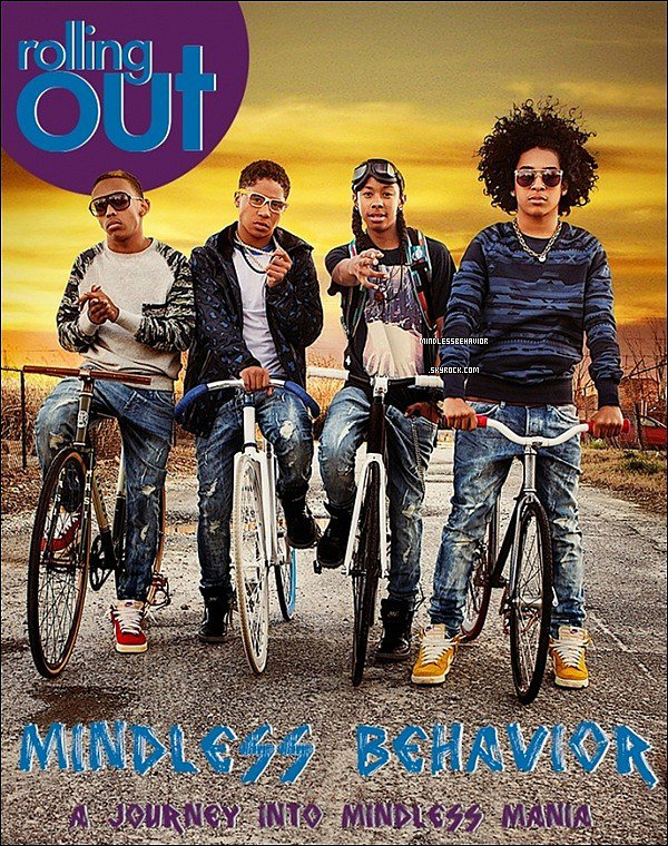 . » 06/ 03/ 13 : Le nouveau photoshoot des Mindless Behavior pour le magasine Rolling Out a enfin apparue. - photo en groupe. .