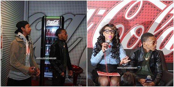 . >> 28/ 03/ 13 - Les Mindless Behavior était présent lors d'une interview pour la compagnie Coca Cola. On peut également apercevoir Princeton posé avec quelques fans et l'intervieweuse. .
