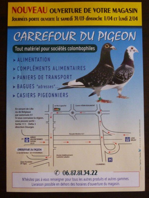 Ouverture du CARREFOUR DU PIGEON