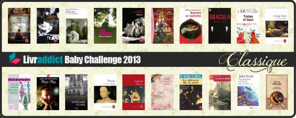 Baby Challenge Classique Livraddict 2013