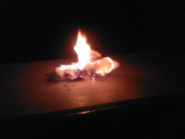 """""""Brùle, brûle jusqu'à ce que ton âme périsse."""""""