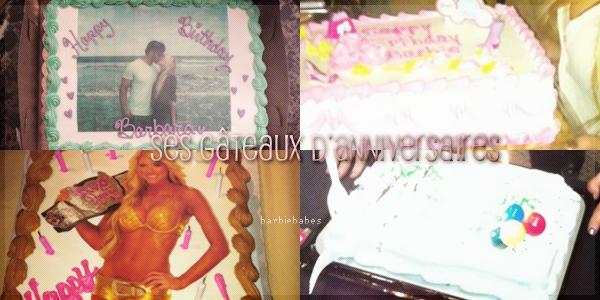 † Ses gâteaux d'anniversaires †