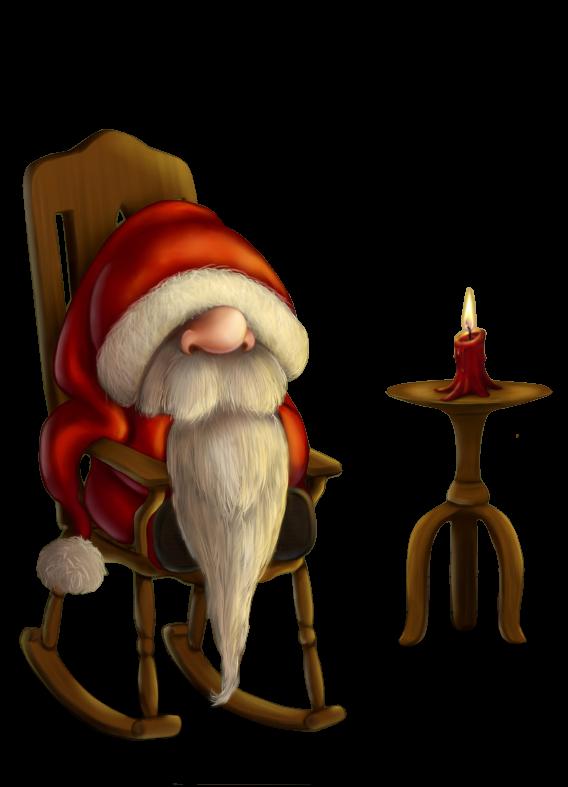 Petit Papa Noël, c'est l'heure de reprendre le boulot... finit la sieste