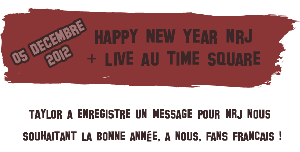 [Article #38] Happy new Year NRJ + live au TIME SQUARE